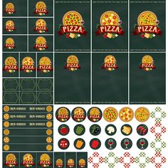 Pizza545 Pizza Party, Birthday Parties, Printables, Kit, Cards, Lala, Scrapbooking Ideas, Banners, Digital