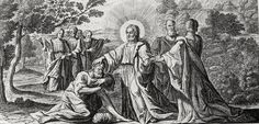 Phillip Medhurst presents Bowyer Bible print 3621 Jairus comes to Christ Matthew 9:18 Debrie on Flickr. A print from the Bowyer Bible, a grangerised copy of Macklin's Bible in Bolton Museum and Archives, England.