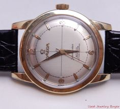 Omega c.1954 Gold Shell Callibre 354 Bumper Automatic Ref. 2577-22 Mens Watch #Omega #LuxuryDressStyles