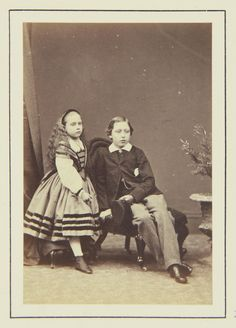Prince Arthur and Princess Beatrice, 1864 [in Portraits of Royal Children Vol.7 1863-1864] | Royal Collection Trust