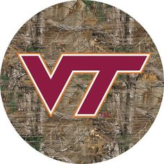 Virginia Tech VT Hokies Wall Art Realtree Camo Round Sign