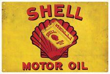 SHELL Motor Oil  Vintage  Tin Sign   Large