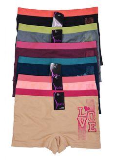 5ca847c9a Ladies Seamless Boyshort (6 Pack) Boy Shorts