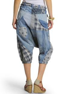 Desigual Damen Loose Jeans Pant
