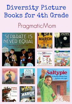 Diversity Picture Books for 4th Grade :: PragmaticMom #reading #books #teachers #4thgrade Multicultural, diverse and inclusive picture books for fourth grade that map to Common Core Curriculum.