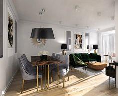 Apartament Wilanów - zdjęcie od ZAZA studio - Jadalnia - Styl Nowojorski - ZAZA studio