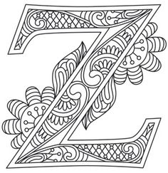 Letter Perfect - Letter Z design (UTH7617) from UrbanThreads.com