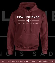REAL FRIENDS // ILLINOIS SAD BOYS HOODIE
