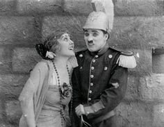 Charlie Chaplin and Edna Purviance in A burlesque on Carmen, Hollywood Cinema, Hollywood Walk Of Fame, Hollywood Actresses, Classic Hollywood, Actors & Actresses, Charlie Chaplin, Stan Laurel, Mabel Normand, Edna Purviance