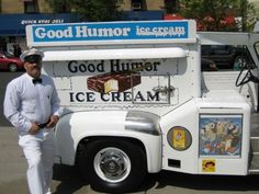 Good Humor Ice Cream truck, one of my fun childhood memories growing up in Connecticut. Great Memories, Childhood Memories, Good Humor Ice Cream, Good Humor Man, Foto Picture, Ice Cream Man, Vintage Ice Cream, Good Ole, The Good Old Days