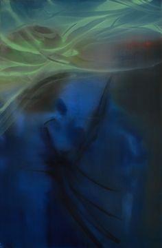 Marvin Aillaud - Silhouettes fragmentées #12 - 2015 - Huile sur toile - 60 x 92 cm #lamicrogalerie #marvinaillaud #peinture #huilesurtoile #artcontemporain Marvin, Ethereal, Silhouettes, Alice, Pets, Animals, Painting, Oil On Canvas, Contemporary Art