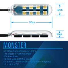 Monster LED Rock Light LUX Lighting Systems Tech Specs