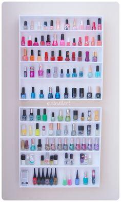 Más nail art.: DIY: Tutorial de cómo hacer una estantería de esmaltes.