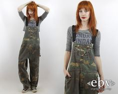 #Vintage #90s #Grunge #CAMO Oversized Liberty #Overalls, fits S/M/L by #shopEBV http://etsy.me/1GZoNKt via @Etsy #90sfashion #90sstyle #etsy