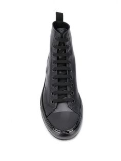Common Projects Tournament high-top Sneakers - Farfetch Black High Top Shoes, Black High Tops, All Black Sneakers, High Top Sneakers, Common Projects, Shopping, Fashion, Black Tops, All Black Running Shoes