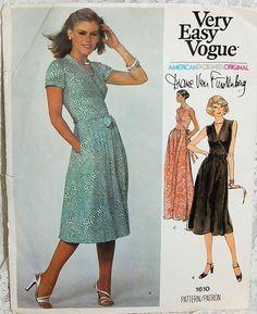 Vogue 1610 DIANE VON FURSTENBERG Wrap Dress Sz10 45+2.6 May'16  c/c