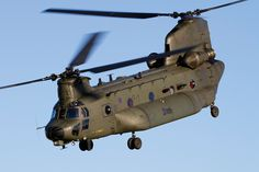 One of three fat tank RAF Chinook Mk 3as being upgraded to Mk 5 standard with the DAFCS and Project Julius upgrades.