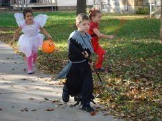 Halloween 2009 - one of my favorite pics, watching the kids run to get candy