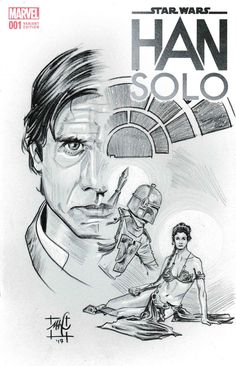Han Solo Variant Comic Cover by Matthew Hirons of saintworksart Harrison Ford, Carrie Fisher, Boba Fett, Princess Leia, Comic Covers, Amazing Art, Star Wars, Han Solo, Fan Art