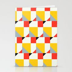 Crispijn Pattern Stationery Cards by Stoflab