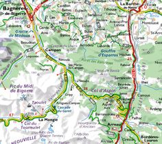 Le col d'Aspin Stage, Map, Cave, Hockey Helmet, Location Map, Maps