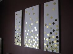 DIY Canvas Wall Art (Using Gold Card and Hole Punch)