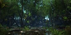 """UE4 - forest environment """"Green Arc' WIP :)"""