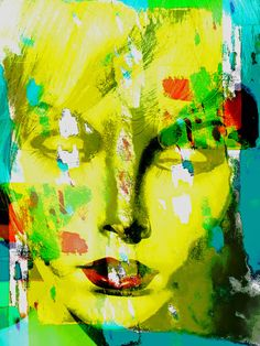 Neu in meiner Galerie bei OhMyPrints: The yellow abstract face