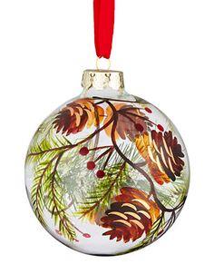 Chalet de Noel 100mm Handpainted Glass Ball Ornament | Hudson's Bay