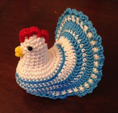 Crochet Pattern Decoration Easter Chicken Eggs di knitted4charm