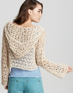 Crochet cardigan-my daughter would love this and if I made it for myself, would need to make it longer, for sure... so cute!