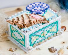 Seashell Collector's Box Perler Project Pattern