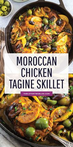 Cajun Delicacies Is A Lot More Than Just Yet Another Food The Incredible Flavors Of Moroccan Cuisine Embody This Moroccan Chicken Tagine Skillet. Its Complex And Bold Flavors Will Have You Going Back For Seconds # Morrocan Food, Moroccan Dishes, Moroccan Tagine Recipes, Moroccan Food Recipes, Tagine Cooking, Chicken Skillet Recipes, Pasta Recipes, Soup Recipes, Vegetarian Recipes