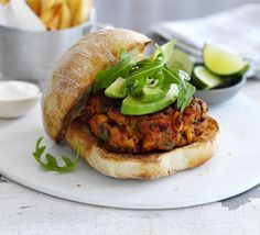 Chorizo Bean Burgers - Combine Spanish sausage with the traditional pork variety for a pulse-packed, spicy burger Bbc Good Food Recipes, Healthy Recipes, Veggie Recipes, Yummy Food, Fat Burger, How To Cook Chorizo, Bbc Good Food Show, Sandwiches, Recipes