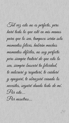 Amor Quotes, True Quotes, Words Quotes, Spanish Inspirational Quotes, Spanish Quotes, Romantic Love Quotes, Love Quotes For Him, Frases Love, Love Post