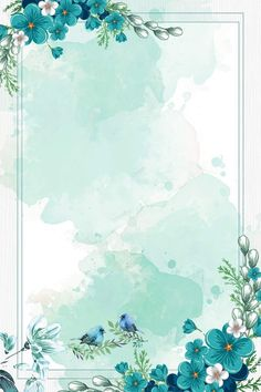 chinese style watercolor blue flowers border background vector Wedding Flower Tips Flowers are symbo Flower Background Wallpaper, Framed Wallpaper, Cute Wallpaper Backgrounds, Flower Backgrounds, Background Patterns, Pastel Background, Chinese Background, Vector Background, Background Flores