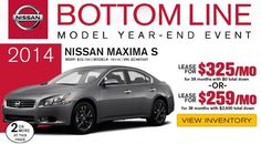 The Bottom Line Model Year-End Event is back at Kline Nissan!  Great deals on many 2014 #Nissan Models. #newcar #carshopping