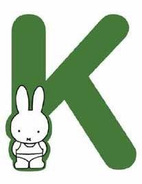 nijntje letter k. Letter K, Miffy, Silhouette Cameo, Base Image, Animation, Graphic Novels, Illustration, Cartoons, Inspiration