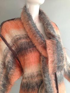 ▲ Incredible 60s/70s Vintage Mohair Coat. Mohair is silk-like in texture & made from the hair of the Angora goat. Both durable and resilient,