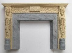 how to: painting faux marble on a miniature fireplace