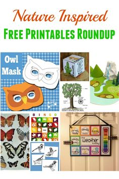Nature Inspired Free Printables Roundup. A fun list of nature-themed printable freebies.