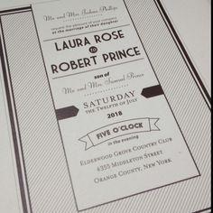 Minimalistic wedding invitation. 4 fonts used well together