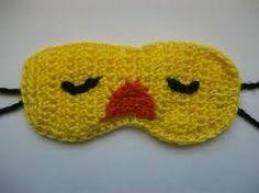 crocheted sleep mask