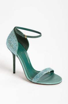 8db11ddded54a sparkly deep mint green wedding shoes ~ we ❤ this! moncheribridals.com  Zapatos Shoes