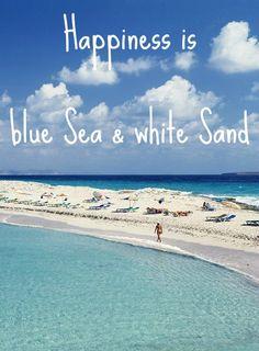 Simple Mediterranean Style Island Living on Tranquil Formentera - Beach Bliss Living-- Happiness is blue Sea & white Sand! Mackinac Island, Inspirational Artwork, Deep Relationship Quotes, Lamai Beach, Shutter Island, Ko Samui, Beach Quotes, Ocean Quotes, I Love The Beach