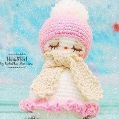 Девочка снеговик крючком амигуруми