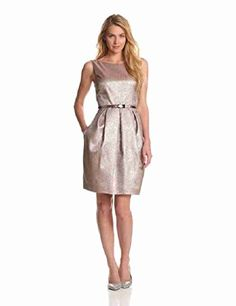 Eliza J Women's Sleeveless Dress with Pleating, Multi, 12 *** Check out the image by visiting the link.