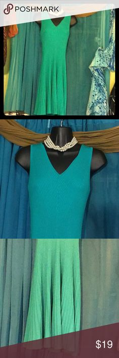WENDY WILLIAMS Flared Knit Dress-Size Small Seafoam green sleeveless dress with ribbed knit & flared skirt.  Retails at $79 Wendy Williams Dresses