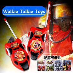 2PCS Plastic Phone Walkie Talkie Kids Electronic Toys Children Mini Walkie Talkie Radio Toys Portable Two-Way Radio Toys TY47