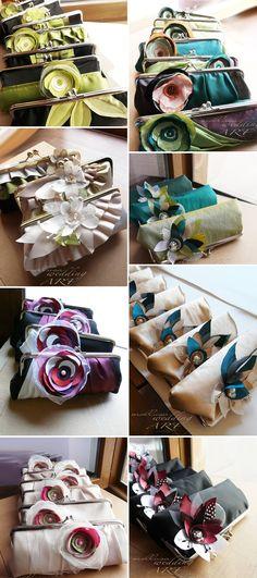 Bridesmaid clutches...